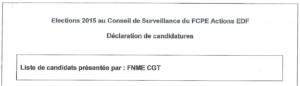 Liste FCPE